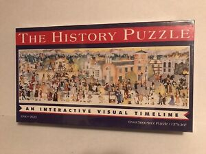 Great American Puzzle Factory History 1800s Timeline Jigsaw 500 Pieces 12X36 New