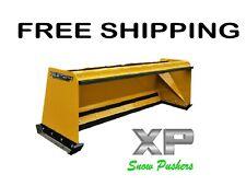 8' Xp24 pullback snow pusher skid steer Bobcat Case Caterpillar-Free Shipping