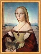 Die Dame mit dem Einhorn Raffael Maria Mona Lisa Licht Himmel LW H A2 0471