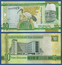 GAMBIA 10 Dalasis (2015) UNC P.32