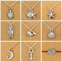 VSCO Girl Turtle Shell Fish Starfish Anchor Necklace. Save a Turtle. UK FAST