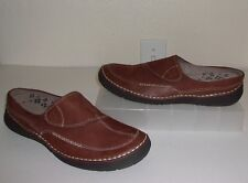Naturalizer Brown Leather & Suede Mules Size 9 Shoes Clogs Loafers Flats
