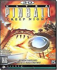 3D Ultra Pinball Creep Night Computer Game w/ Hidden Levels & Bonus Fourth Table