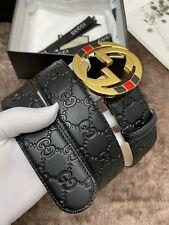 Authentic Gucci  BLACK Men's size 90/36  Belt Fits  32-36 waist