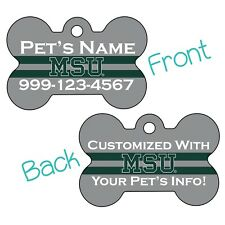 New listing Michigan State | Ncaa 2-Sided Pet Id Dog Tag | Personalized for Your Pet