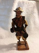 Paper Mache Mexican Folk Art Man With Pots Figure