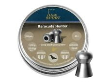 H&N Sport BARACUDA Hunter 6.35 mm .25cal. 200pcs AIRGUN PELLETS Air rifle pellet