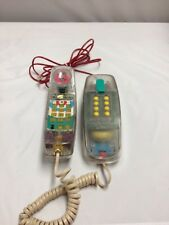 VTG Modern Fun Phone Metro Light Clear Case Multi Color Light Up Ring Telephone