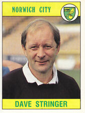 Panini Football 1990 - Dave Stringer - Norwich City - # 201