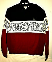 Keith Haring Artist Lacoste Pull Over Sweatshirt New NOS XL