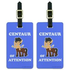 Centaur Center of Attention Funny Humor Luggage ID Tags Cards Set of 2
