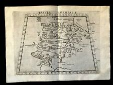 MAP OF ANTIQUE SPAIN 1564 from Girolamo Ruscelli PTOLEMY'S GEOGRAPHIA Atlas