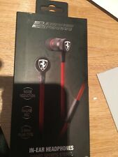 Ferrari Scuderia In-Ear Headphones NEW BOXED