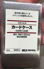 MUJI Japan Stainless Steel Business Card Holders 1 pc Gifts stationery