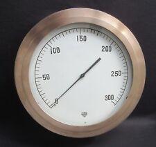 "Huge 14.5"" Star-Martin Steam Pressure Boiler Gauge Steampunk Antique Brass Bezel"