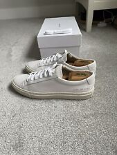 Common ProjectsAchilles  LowLace-Up Leather Trainers White with Off-White Soles