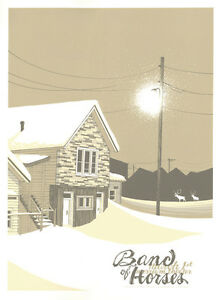 Band Of Horses Gig Poster, Philadelphia 2014 (Original) 18 x 24' Print