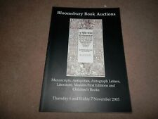 Bloomsbury Auctions Manuscripts Childrens Books Modern First Editions 2003