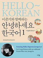 [Hello Korean With Lee Jun Ki Vol. 1] Learn Language Book+Audio DVD English Ver