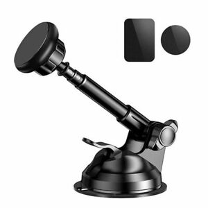 Magnetic Car Mount Holder with Metal Telescopic Arm, Black