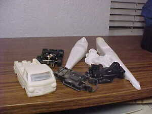Lot # 30 of HO Slot Car Stuff - Resin Drag Bodies and Chassis