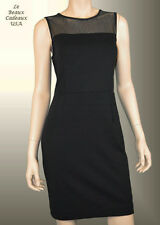 NWT$109.9 BANANA REPUBLIC Women Dress Sz 8 Black Faux Leather Sleeveless Knee