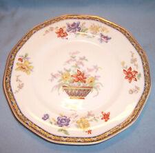 """3 Haviland H&C Limoges GANGA Porcelain Rimmed 7 5/8"""" SALAD PLATE Dish Coromandel"""