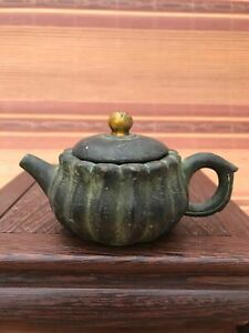 Chinese antiques Fengshui copper ware bronze Gilding teapot T074