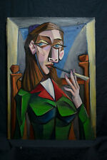 Oil on canvas,NOT PRINTED, vintage,rare, Signed Picasso