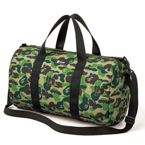 SS20 A Bathing Ape Bape Camo Shoulder bag Handbag Cylinder Gym Travel Bag