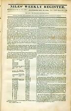 Newspaper Old & Authentic ! Texas Revolution ! Goliad S.F.Austin Free COA 1835