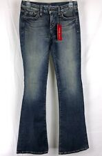 GUESS PREMIUM Women's Jeans Size 24 Bootcut Distressed Stretch Bling Pockets NWT