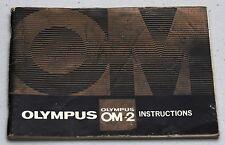 OLYMPUS OM-2 Original Camera Guide Manual Instruction Photography Book