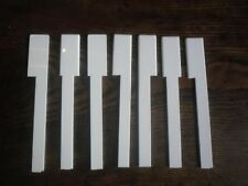 Piano Key Tops -White -One Octave - for Upright Pianos FREE DELIVERY.