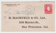 Advertising Hackfield Honolulu Flag Cancel Entire Dot Hawaii Territory z