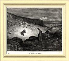DANTE E LA LONZA.Divina Commedia.Inferno,Canto I.Gustave Doré.Stampa Antica.1890