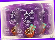6 Refills Glade PlugIns Scented Oil SWEET HOLIDAY TREAT Winter Collection