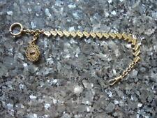 belle chaine de montre a gousset avec petite breloque pierre du rhin