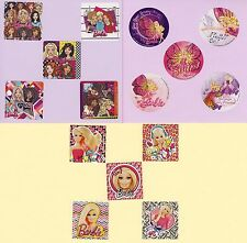 15 Barbie Assorted Large Stickers - Party Favors - Rewards