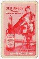 Playing Cards Single Card Old McINTYRE OLD ANGUS Whisky Advertising Art SCOTSMAN
