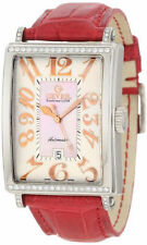 Gevril Women's 6208RT Glamour Automatic ETA 2892 Leather DIAMOND Date Watch