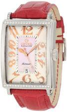 Gevril Women's 6208RT Glamour Automatic ETA 2892 Leather DIAMOND Date Watch