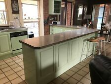complete kitchen used, finish in two pack paint work, colour is mint green.
