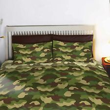 Army Camouflage Reversible Double Duvet and Pillowcases Set New (FREE P+P)