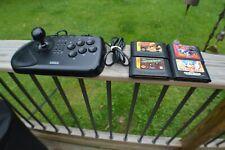 Sega 8 Button Arcade Stick & 4 Sega Games