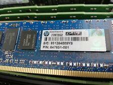 HP 8GB 1Rx4 PC3-12800R DDR3 ECC Server Memory 647899-B21 647651-081 664691-001
