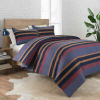 Pendleton Comforter Set, Lake Stripe,  Queen #1 (0395)