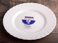Set of 6 Ceramic Dinner Plates 24 cm Luminarc Porcelain Dining Tableware Round