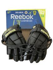Zack Greer Reebok Lacrosse Gloves 8� youth. Zg3. Black/lime. Cinch drawstring
