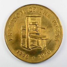 1776-1976 Freedom of the Press (Family Weekly Magazine) Token Medallion